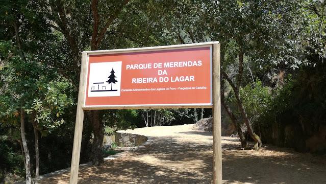 Placa Parque de Merendas da Ribeira do Lagar