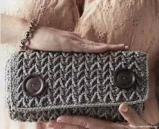 Bolsa Clutch crochê