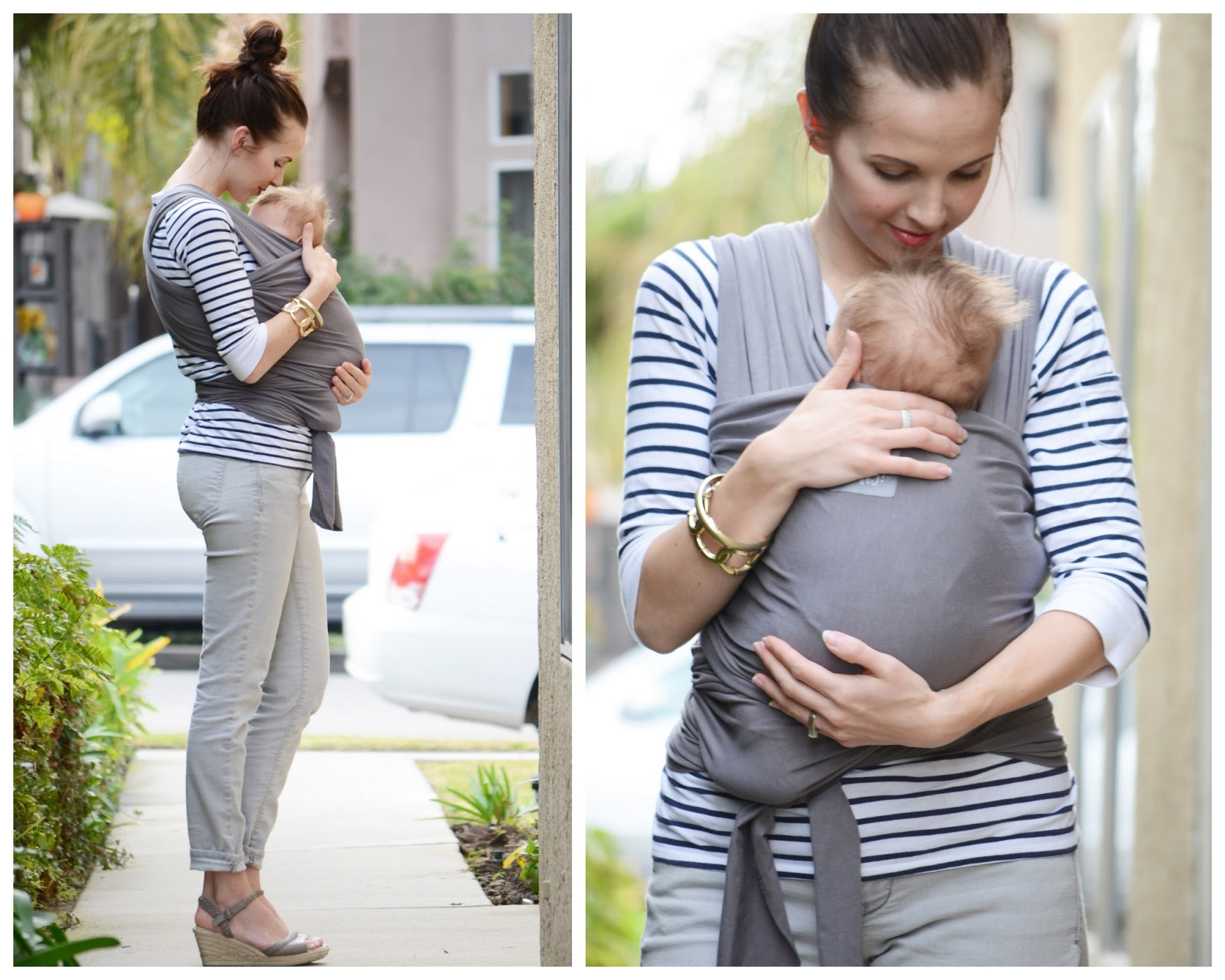 b98dd6525ae jeans  old navy (similar)    tee  sam s club (similar)    wedges  old navy  (similar)    baby wrap  happy baby c o