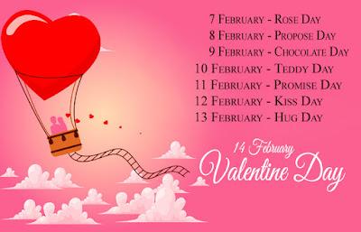 Valentine Week Days Chart Image