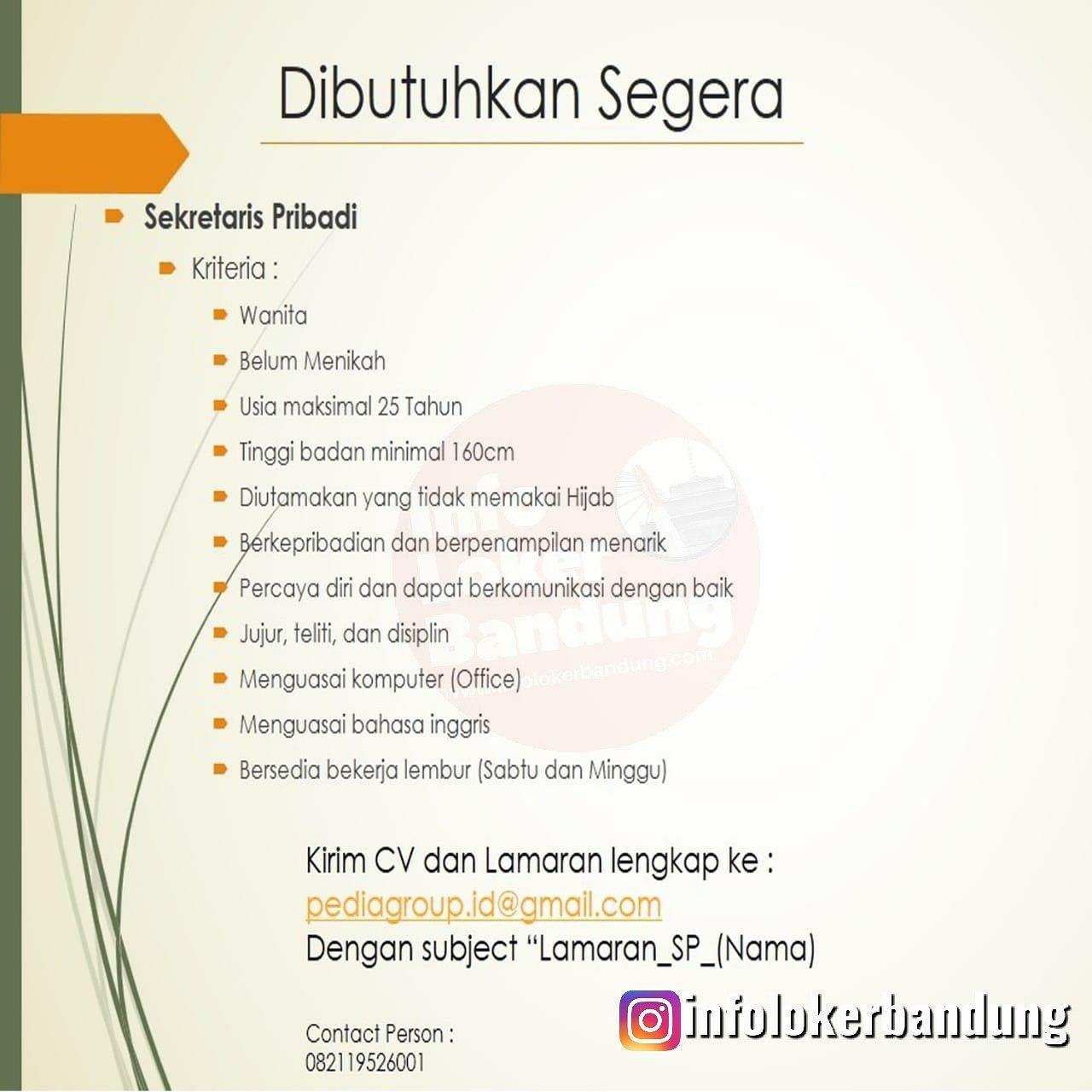 Lowongan Kerja Sekretaris Pribadi Perusahaan Star Up dibidang Property Bandung September 2019