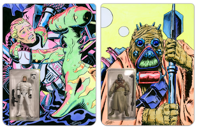 San Diego Comic-Con 2019 Exclusive KRBtronic Star Wars Figures with Hand Illustrated Card Backs by Manly Art x DKE Toys