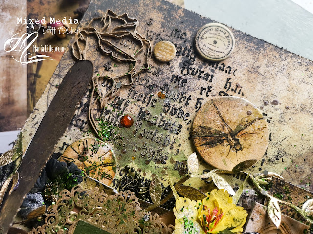 Vintage mixed media layout by Maria Lillepruun tutorial