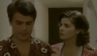 Stefanelli with her then-husband Michele Placido in a scene from the 1975 film Scandal in the Family