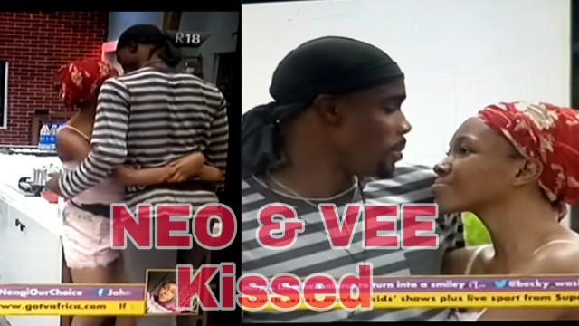 BBNaija Lockdown: Big Brother Naija Housemates NEO and VEE kissed passionately (video)