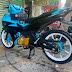 Mẫu sơn xe máy Exciter xanh phối đen cực đẹp