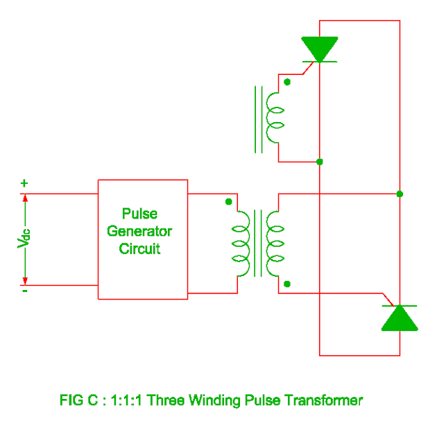 three winding pulse transformer