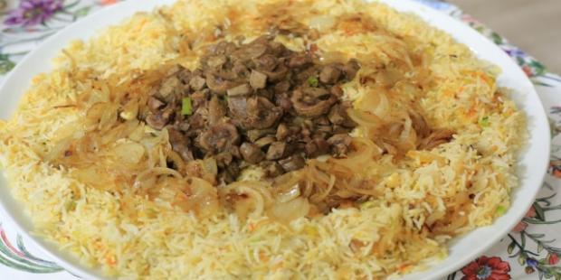 مقادير عمل أرز بالكبد والكلاوي