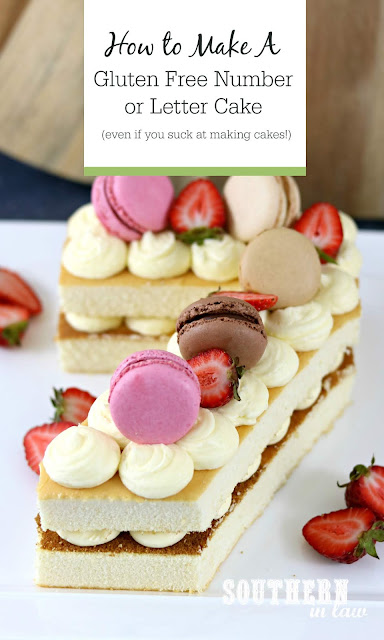 How to Make an Easy Gluten Free Number Cake - Easy Cake Decorating Ideas and Simple Cake Hacks that Look Professional  -  Girly Number 7 Cake Decorated with Pink and Brown Macarons, Fresh Strawberries and French Style Icing