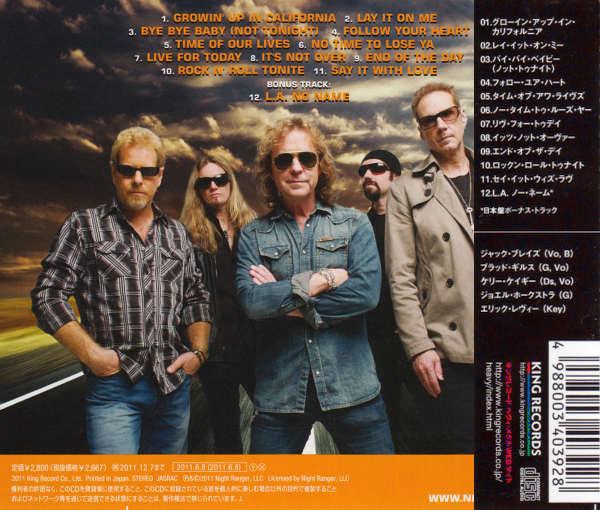NIGHT RANGER - Somewhere In California [Japan Edition] - back