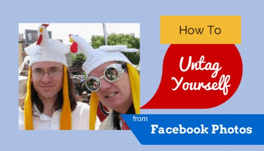 How to untag yourself from a photo on facebook