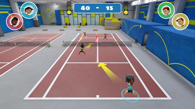 Partido de Dobles Instant Sports Tennis
