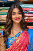 Pooja Hegde in Saree Photos at Anutex Mall Launch TollywoodBlog