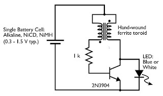 LED Flashlight Use Supercapacitor circuit diagram