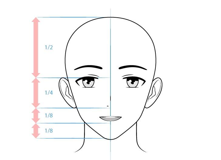 Gambar wajah ramah karakter anime pria ramah