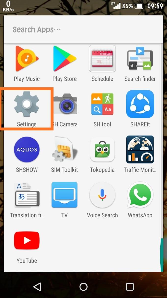 Cara mengatasi sinyal 4G 3G yang tidak muncul di hp Sharp Aquos dan Fujitsu