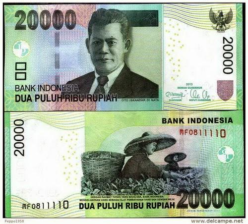 uang 20.000 keras indonesia