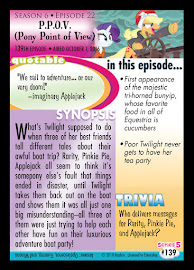 MLP P.P.O.P. Pony Point of View Series 5 Trading Card