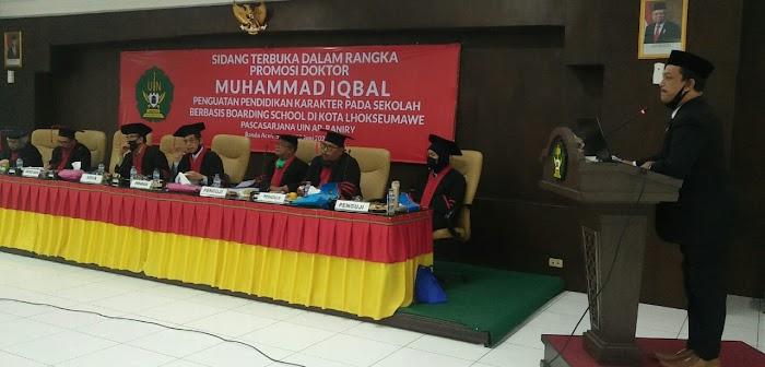Teliti Tentang Pendidikan Karakter di Boarding School,  Muhammad Iqbal Raih Gelar Doktor