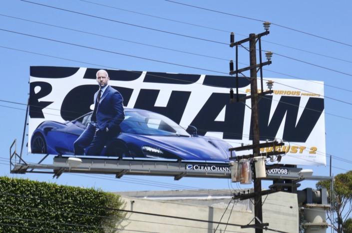 Jason Statham Hobbs & Shaw movie billboard