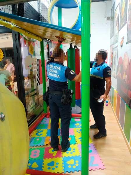 cuatro niños heridos en una ludoteca en la calle Triana, Las Palmas