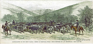 Rounding up the cattle near Kerrville,  from a sketch by L. W. MacDonald
