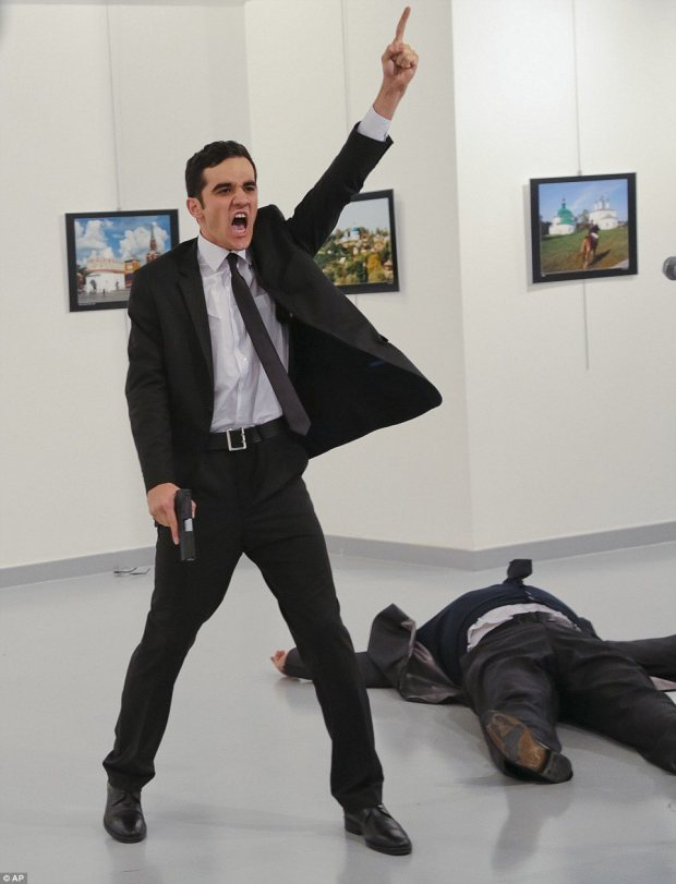 Russian ambassador assassinated by Turkish off-duty officer in Ankara