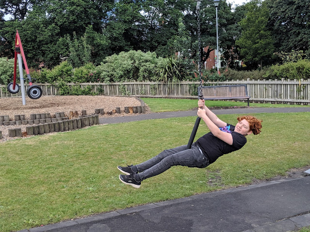 Ridley Park, Blyth - One of the best parks in Northumberland - zip wire