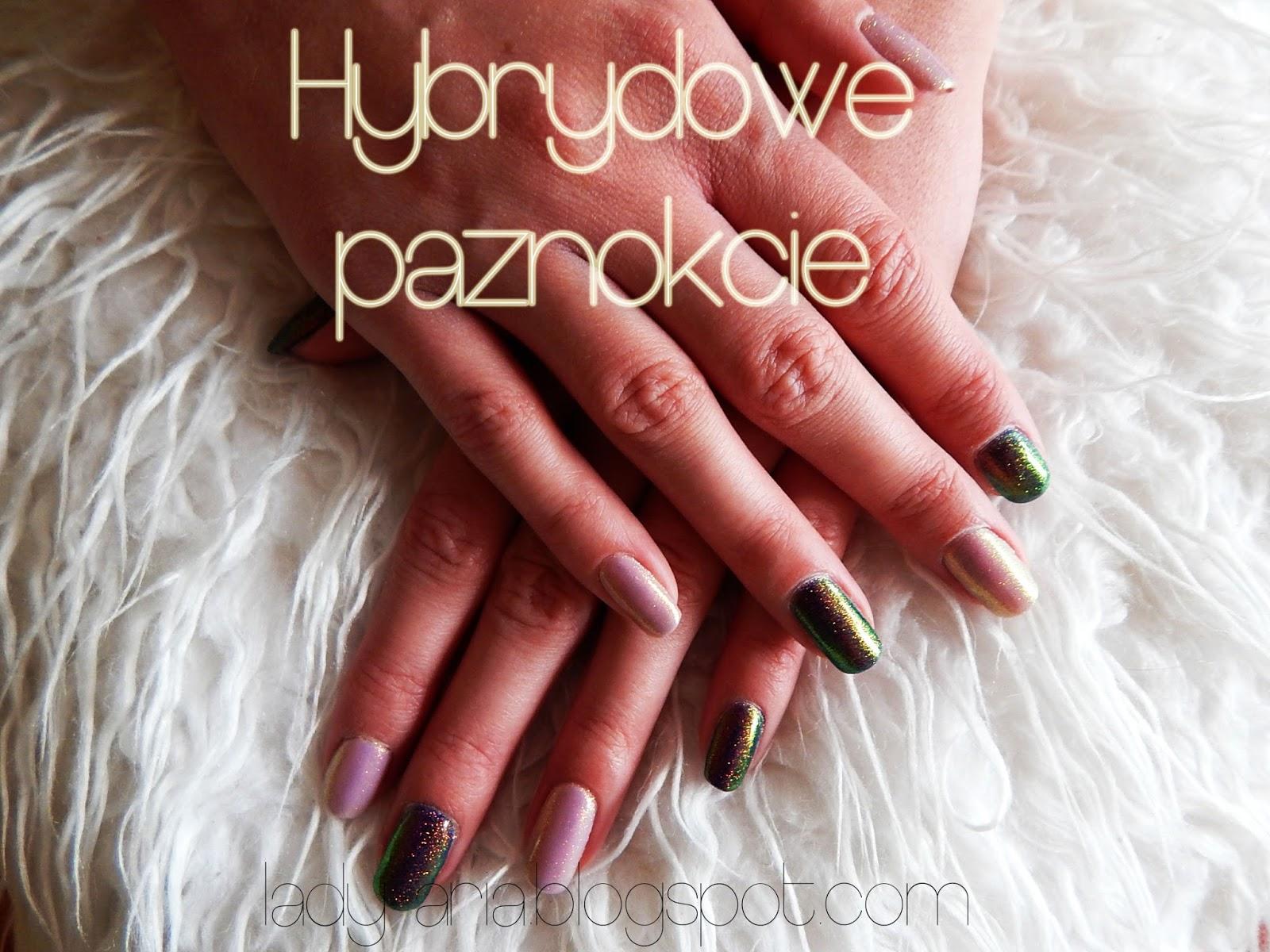 Hybrydowe paznokcie - challenge