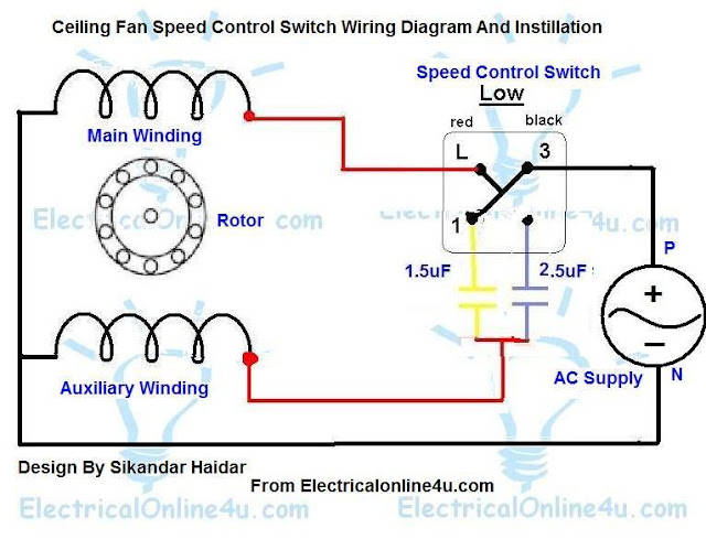 ceiling fan speed control switch wiring diagram ... 3 sd fan switch wiring diagram schematic