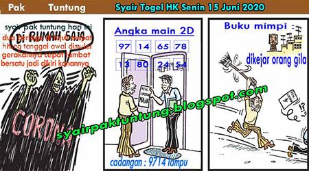 Prediksi HK Senin 15 Juni 2020 - Pak Tuntung