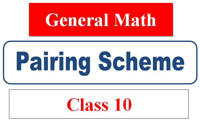 10th class general math pairing scheme 2021 arts group