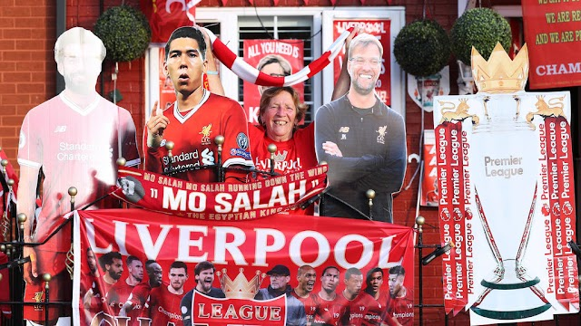 Liverpool finally wins Premier League trophy to end 30-year title drought