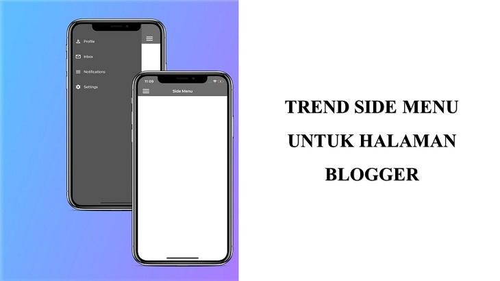Sidenav blogger trend blogging 2021
