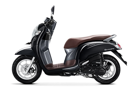 Honda Scoopy eSP warna stylish black