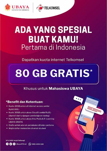 kuota gratis 80gb telkomsel