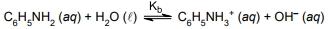 UNESP 2021: A solução aquosa de anilina é básica devido à ocorrência do equilíbrio