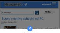 Tocca per cercare su Chrome per Android