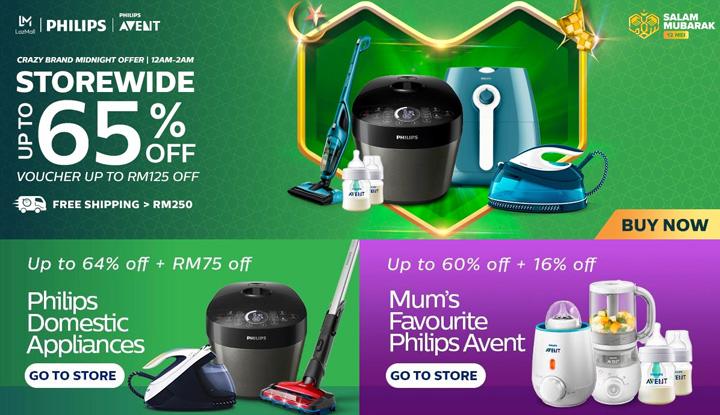 Promosi Philips di Lazada Malaysia - Salam Mubarak