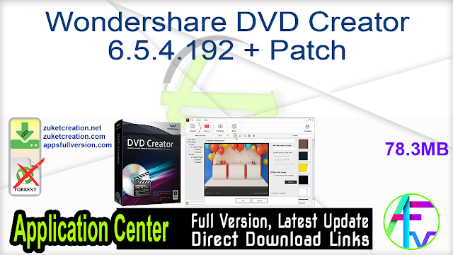 Wondershare DVD Creator 6.5.4.192 + Patch