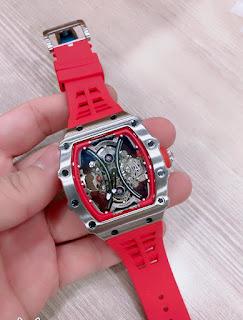 Jam Tangan Richard Mille body stainless merah