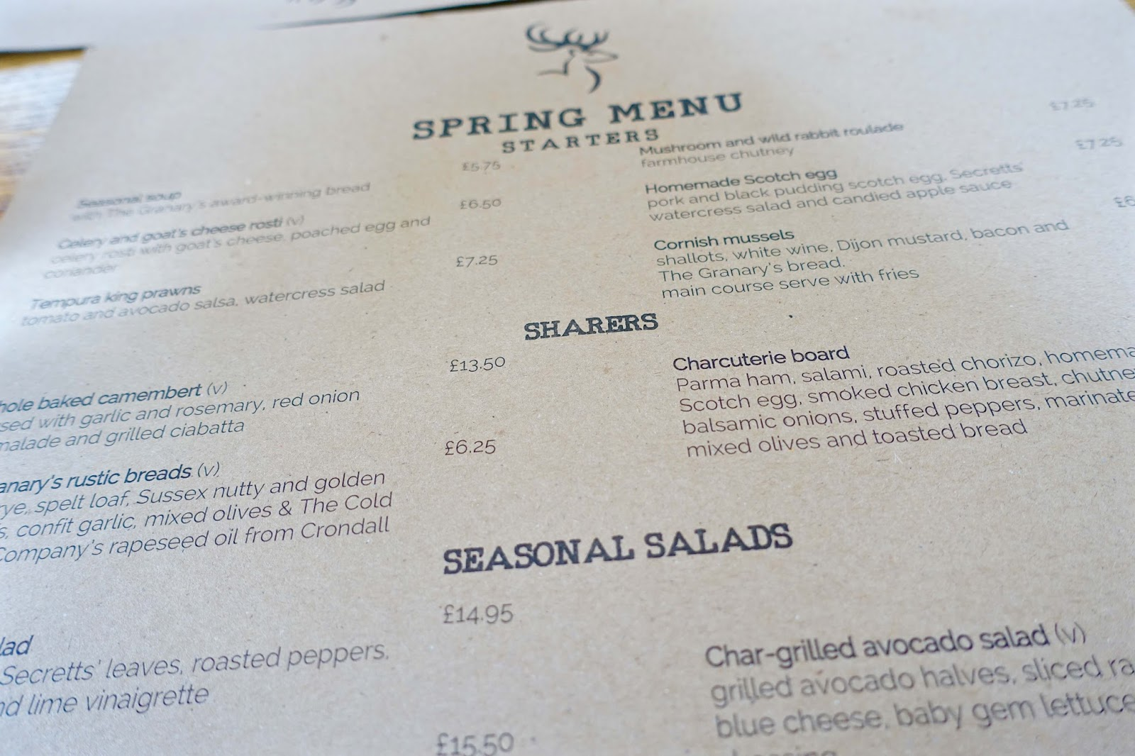 stag on the river goldalming spring menu