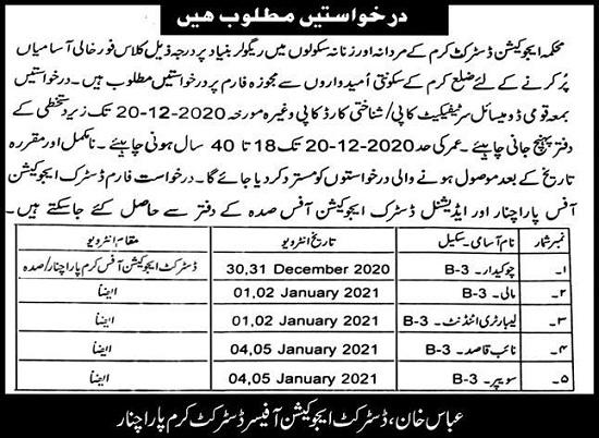 education-department-kpk-jobs-2020-naib-qasid-mali