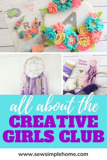 The best craft kits for girls and tweens with the Creative Girls Club kit.