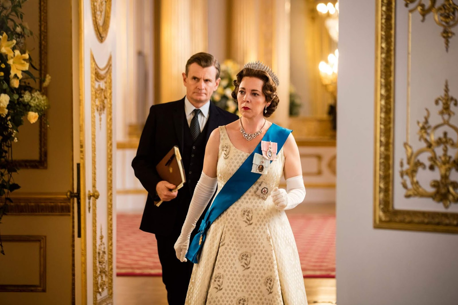 La reina Elisabeth II en le tercera temporada de The Crown