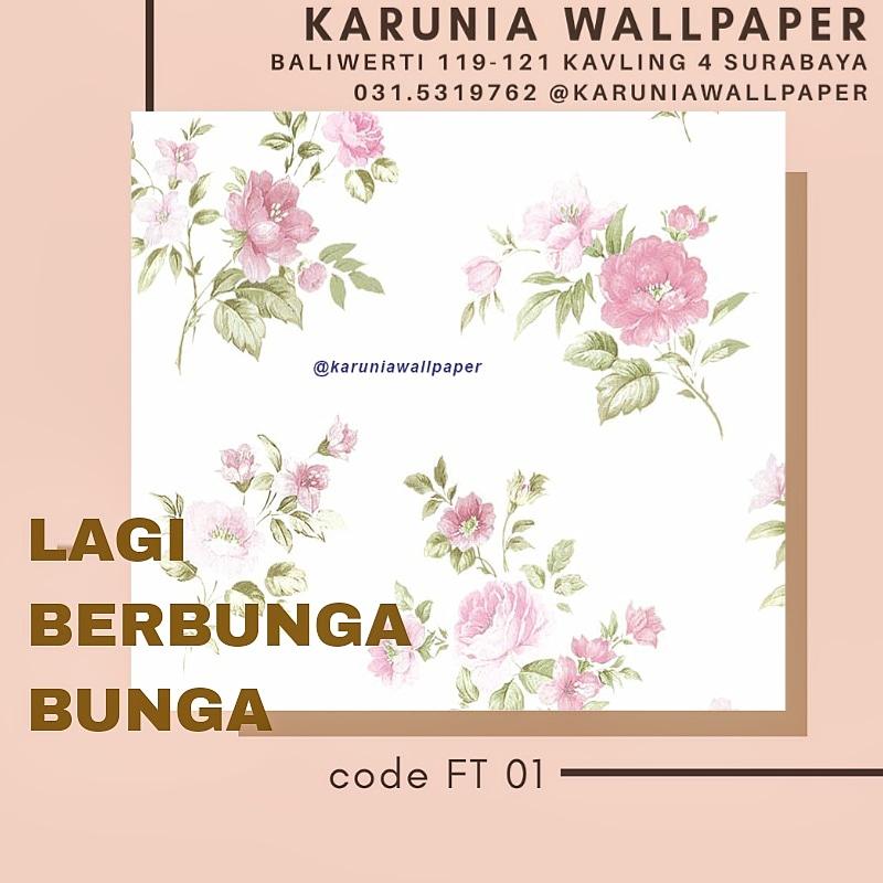 jual dekorasi dinding wallpaper bunga bunga shabby chic