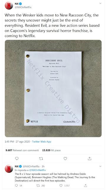 Netflix: Resident Evil tweet
