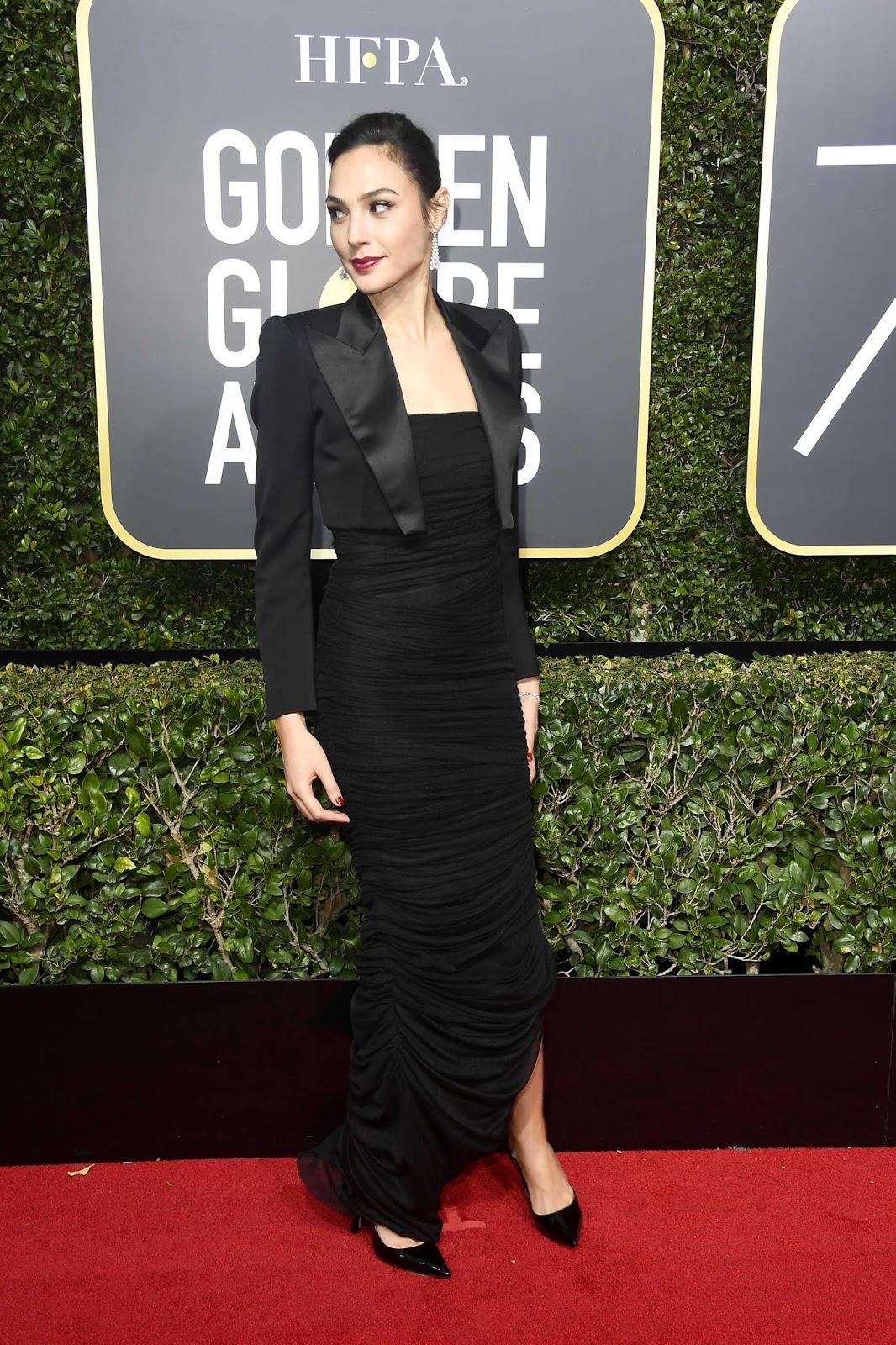 Gal Gadot Dress at 75th Annual Golden Globe Awards