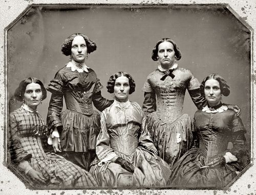 Vintage Photo. Five stern looking women. c.1880s Manners, A Word to Women by Mrs. C. E. Humphry, 1898. marchmatron.com