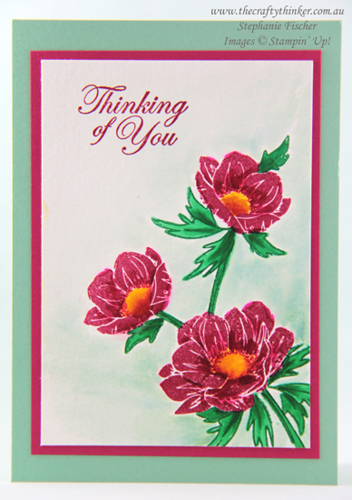 #thecraftythinker #stampinup #cardmaking #floralessence , Floral Essence, watercolour, Floral card, Stampin' Up! Demonstrator, Stephanie Fischer, Sydney, NSW